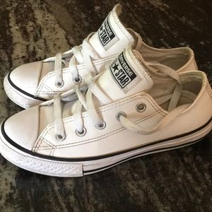 Converse White Leather All Star Sneakers Youth 1